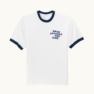 The Japanese House: 'Swim Against The Tide' Blue Ringer Tee