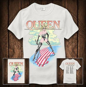 Queen: Queen The Game Vintage T-Shirt & Lithograph Bundle