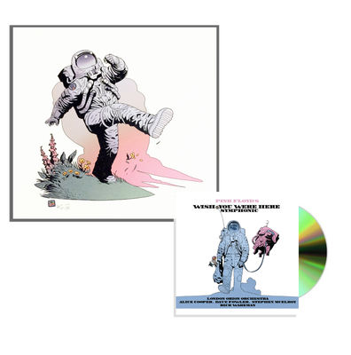 Pink Floyd: Pink Floyd's Wish You Were Here Symphonic CD Album + Fine Art Print