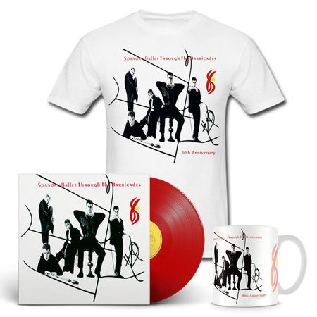 Spandau Ballet: Through The Barricades Vinyl, T-Shirt & Mug Anniversary Bundle
