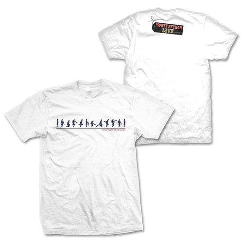 Monty Python: Ministry of Silly Walks Evolution White T-Shirt Small