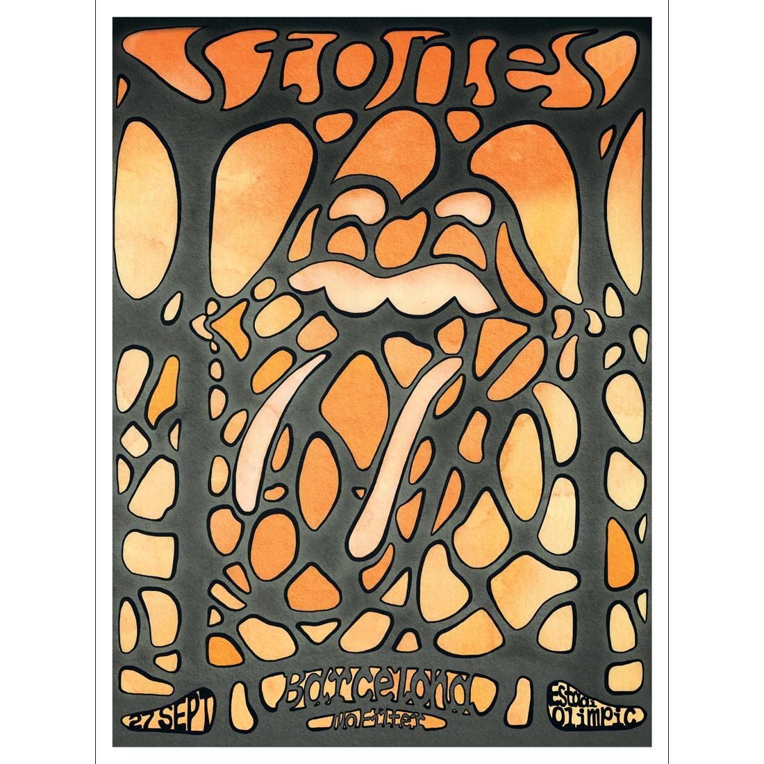 Art The Rolling Stones Barcelona Lithograph