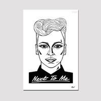 Virgin 40: Limited Edition Ted Draws Signed Numbered Emeli Sandé Poster