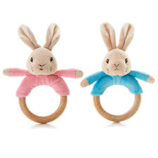 Peter Rabbit: Peter Rabbit or Flopsy Bunny Wooden Bean Rattles