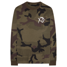 The Weeknd: XO Hand Logo Camo Longsleeve