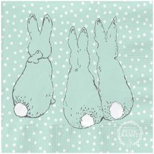 Peter Rabbit: Peter Rabbit Contemporary Napkin (Cotton-Tail Polka Dot)