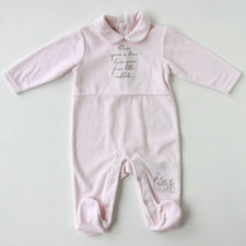 Peter Rabbit: Peter Rabbit Girls Velour Sleepsuit