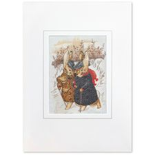 Peter Rabbit: Two Gentleman Rabbits Woven Card