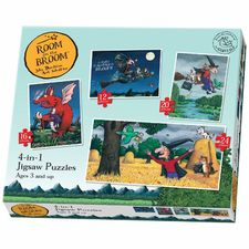 Room on the Broom: Room on the Broom 4 in 1 Puzzle