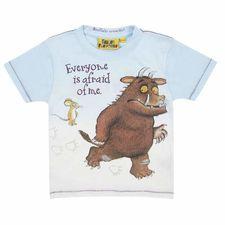 The Gruffalo: Gruffalo Afraid Design on Blue T-shirt