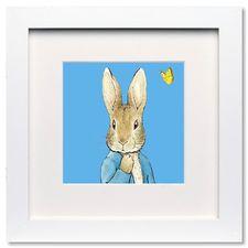Peter Rabbit: Peter Rabbit Blue - Mini Print (Framed)