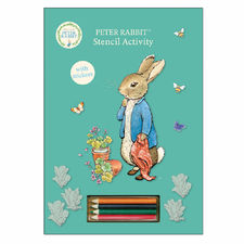 Peter Rabbit: Peter Rabbit Blue Stencil Activity Book with Pencils