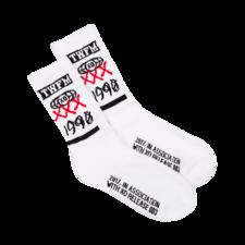 The Weeknd: XO Sponsored Socks White