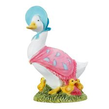 Jemima Puddle-duck: Jemima Puddle-duck with Ducklings - 7.5cm Miniature Figurine