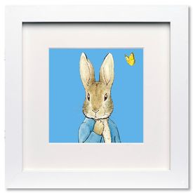 Flopsy, Mopsy and Cotton-tail: Peter Rabbit Blue - Mini Print
