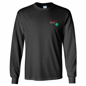 Roger Taylor: Roger Taylor Fun On Earth Embroidered Charcoal Long Sleeve T-Shirt