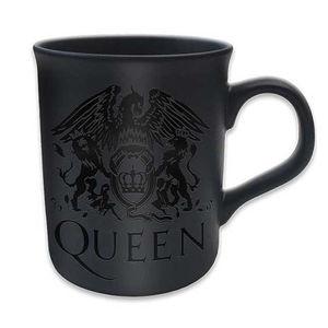 Queen: Boxed Matt Mug: Crest (Black on Black Matt)