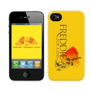 Freddie For A Day: Custodia per iPhone 4 gialla con logo Freddie For A Day