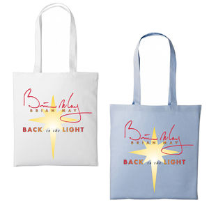 Brian May: Back To The Light Tote Bag (White Or Blue)