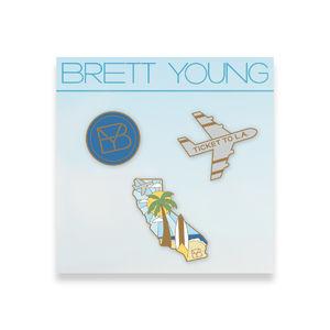 Brett Young: California Enamel Pin Set