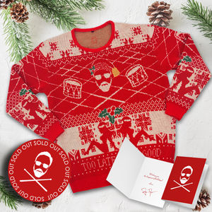 Roger Taylor: 'Taylored' Knitted Christmas Jumper and Christmas Card