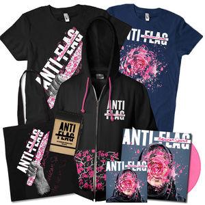 Anti-Flag: Pink Vinyl, CD, Black + Blue T-Shirt, Hoodie, Bag and Notepad