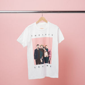 The 1975: White Love Me T-Shirt