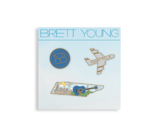 Brett Young: Tennessee Enamel Pin Set