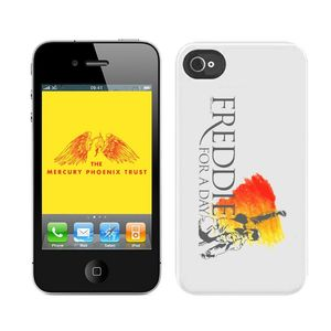 Freddie For A Day: Custodia per iPhone 4 bianca con logo Freddie For A Day