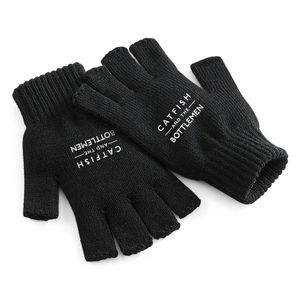 Catfish And The Bottlemen: CATB BLACK FINGERLESS GLOVES