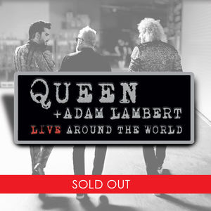 Queen & Adam Lambert: Live Around The World Pin Badge
