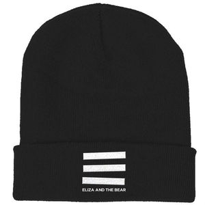 Eliza And The Bear: Black Bars Beanie Hat