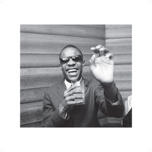 Motown: Stevie Wonder Black and White 50x50cm Photo Print