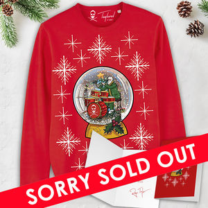 Roger Taylor: 'Taylored' Snow Globe Christmas Sweatshirt & Christmas Card