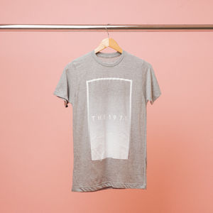 The 1975: White Fade Grey Rectangle T-Shirt