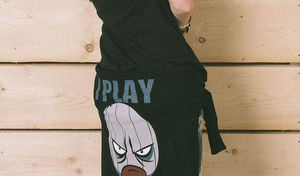 I Play Dirty: Womens Black Hoodie