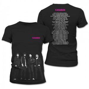 Kasabian: Kasabian New Group European Dateback Ladies T-shirt