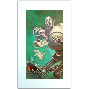 Queen: News Of The World Fine Art Print Signed By Brian May And Roger Taylor