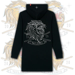 Roger Taylor: 'Taylored' Womens Lion Embroidered Hooded Dress