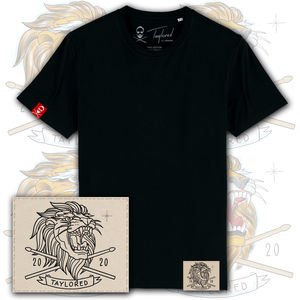 Roger Taylor: 'Taylored' 2020 Embroidered Lion Patch T-Shirt