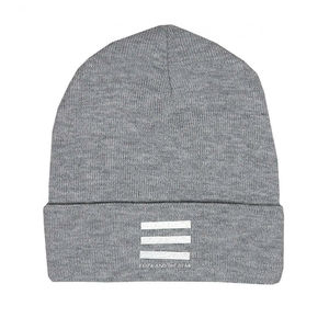 Eliza And The Bear: Grey Bars Beanie Hat