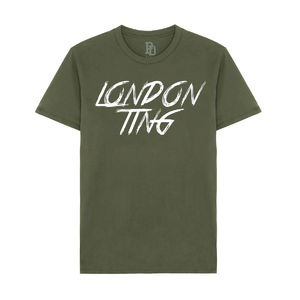 I Play Dirty: London Ting Military Green T-shirt