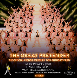 Freddie For A Day: The Official Freddie Mercury 74th Birthday Party @ The Casino, Montreux, Switzerland - 05/09/2020 E-Ticket