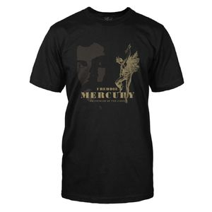 Freddie Mercury: Messenger Of The Gods Black T-Shirt