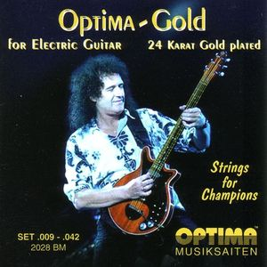 Brian May: Cordes de guitare électrique de Brian May Optima Gold 2028BM