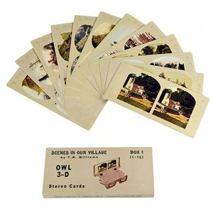 London Stereoscopic Company: Scenes In Our Village: Set of 12 Stereo Cards