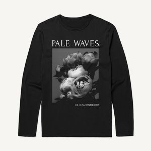 Pale Waves: 2017 Tour Flower Oversized Longsleeve Dateback Tee