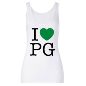 Professor Green: I Heart PG on Women's White Vest