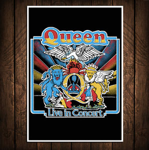 Queen: Queen Live In Concert Vintage Lithograph Print