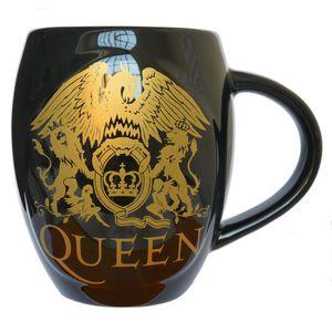 Queen: Queen Gold Classic Crest Oval Mug